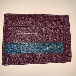 Bally ox blood card holder.